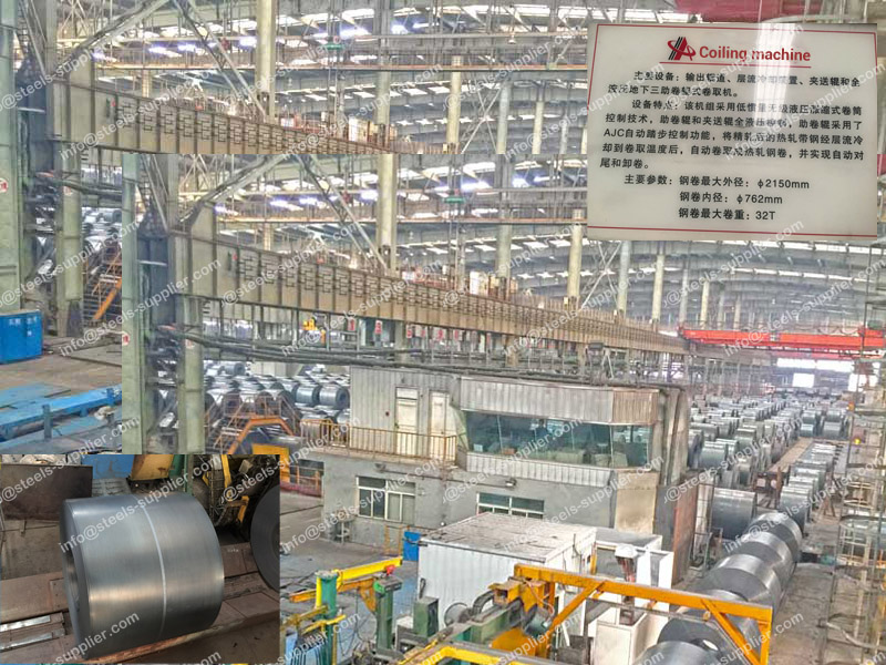 steel coil packed in warehouse