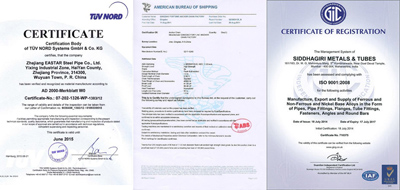 Steel Product Certificate